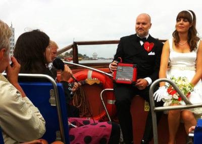 Musik för bröllopsfesten i Harbour Cruise med Anna Kruse